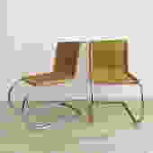1970s Mies Van der Rohe MR Cantilever Chairs-Pair