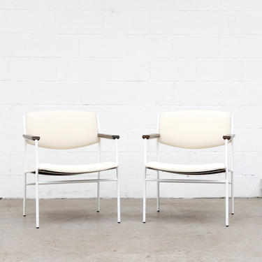 Pair of Gijs Van der Sluis Style Lounge Chairs