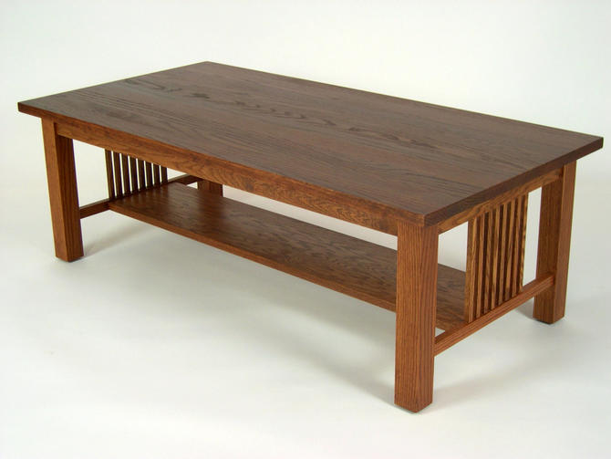 Mission Oak Arts & Crafts Stickley style Coffee Cocktail Table by DaleMartinFurniture