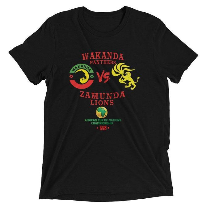 Wakanda VS Zamunda Unisex Tri-Blend T-shirt by UnfadedEra