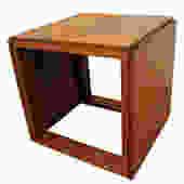 Set of 3 Mid-Century Danish Modern Kai Kristiansen Teak Cube Nesting Tables by AnnexMarketplace