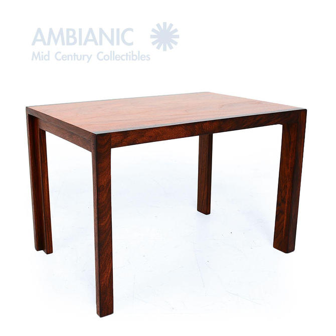 Solid Rosewood and Mahogany Versatile Side Table 1980s by AMBIANIC