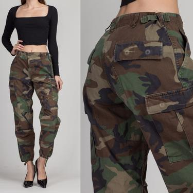 """80s High Waist Camo Cargo Pants - 26""""-29"""" 