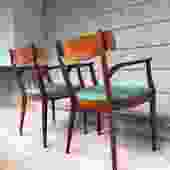 Midcentury Arm Chair Pair: Kipp Stewart Drexel