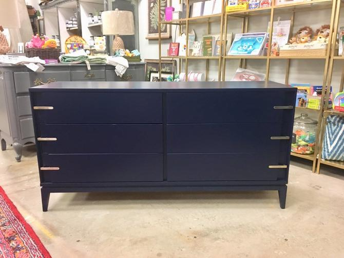 Ford- Navy Long MCM Dresser by StylishPatina