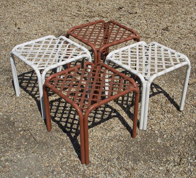 4 Tamiami Brown Jordan Ottomans Patio, Vintage Brown Jordan Outdoor Furniture