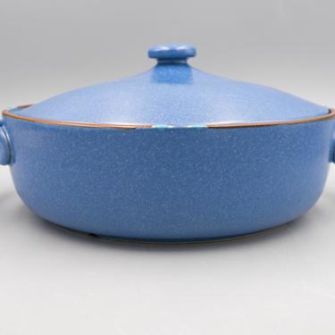 Dansk Mesa Sky Blue 2 Qt Round Covered Casserole | Vintage Southwest Inspired Dinnerware Stoneware Serveware by MostlyMidCenturySF