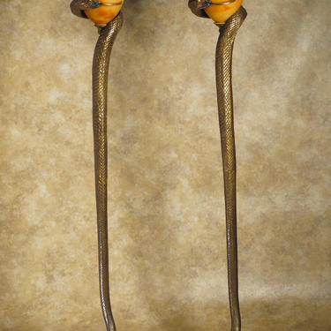 (After a model by) Edgar Brandt pair of torcheres (#1654)