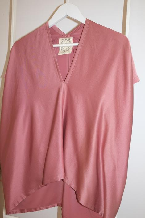 Everyday Top, Silk Charmeuse in Paradiso FINAL SALE