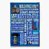 Metropolitan Washington DC Tea Towel