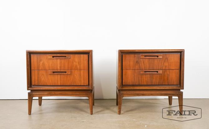 Pair of American Walnut End Tables