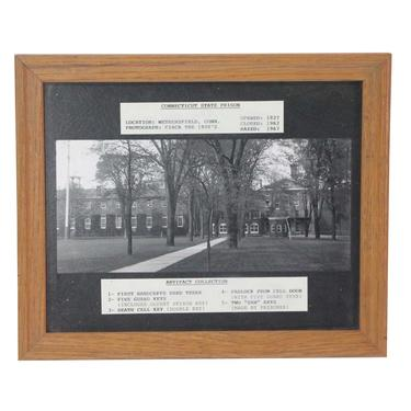 1920s Connecticut State Prison Framed Photograph