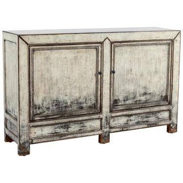 Distressed Cream Wood 2 Door Cabinet from Terra Nova Designs by TerraNovaLA