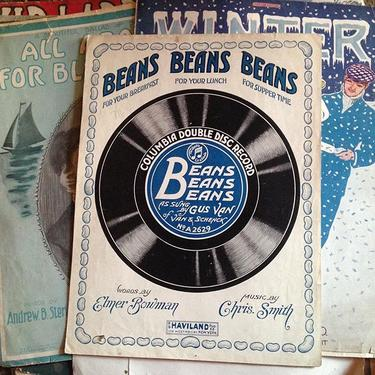 Lots of old sheet music from the pick last week #beans #vintage #petworth #antique