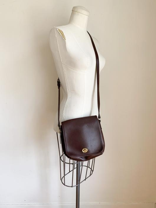 Vintage 1980s Chocolate Brown Coach Leather Satchel Bag by MsTips