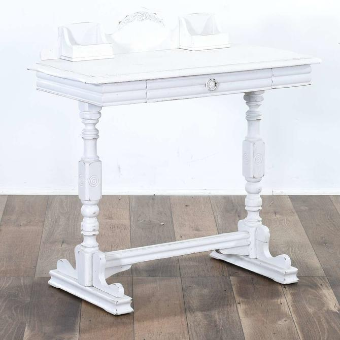 White Colonial Cottage Chic Writing Desk