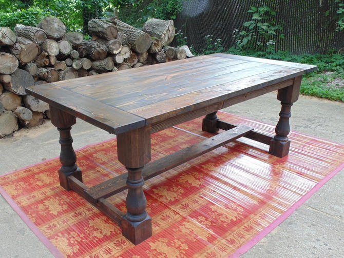 Talbot dining table farmhouse reclaimed wood custom for Reclaimed wood sources
