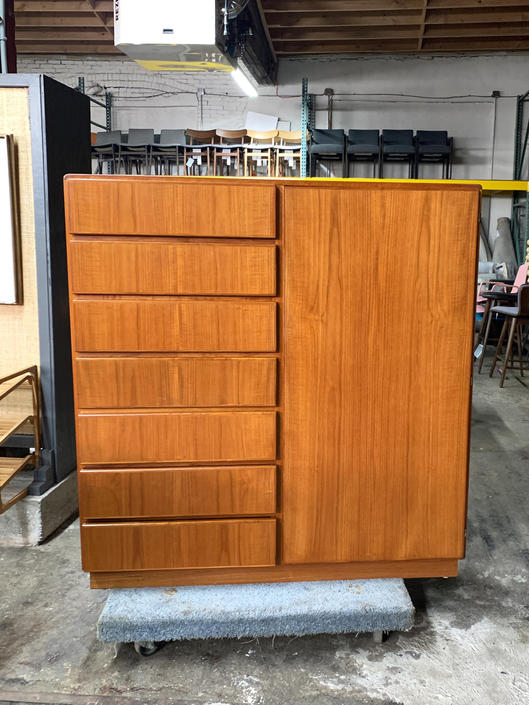 Danish teak gentlemans chest