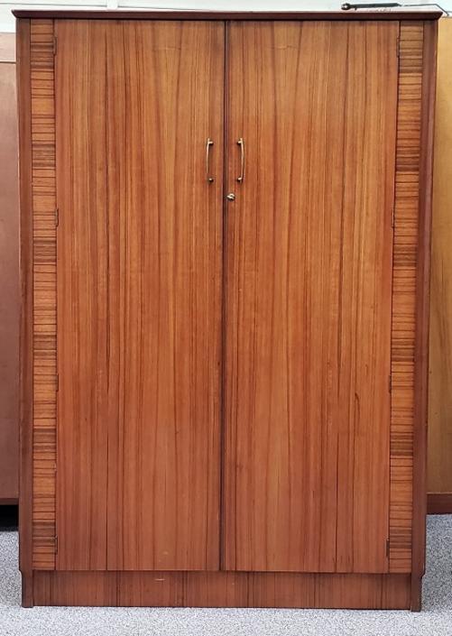 Item #S2057 Mid Century Double Door Armoire c.1960s