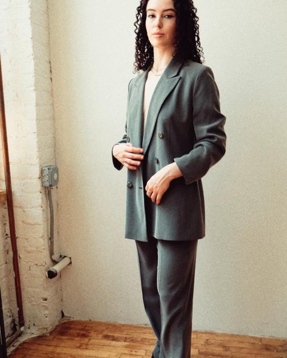 80s Light Metallic Suit Set