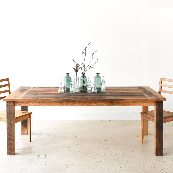 Farmhouse Dining Table made from Reclaimed Wood - Textured Finish by wwmake