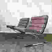 Pair of 70's modernist lounge chairs by DIA