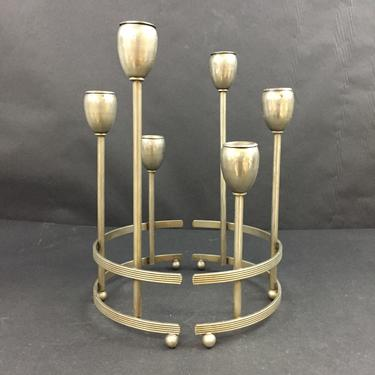 Curved Metal Mid-Century Modern 2-piece Candleabras