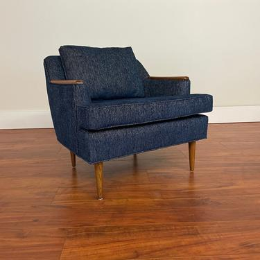 Mid Century Lounge Chair with Wood Trim by Vintagefurnitureetc