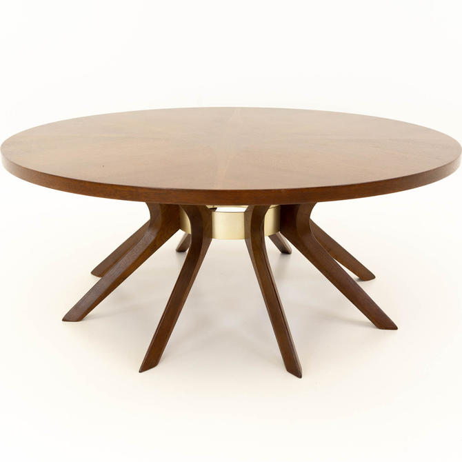 Broyhill Brasilia Mid Century Walnut Cathedral Coffee Table - mcm by ModernHill
