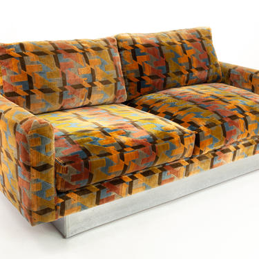 Selig Imperial Mid Century Chrome Base Sofa - mcm by ModernHill