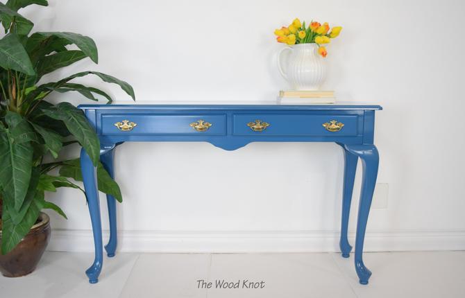 The Bombay Company Blue Entryway Table