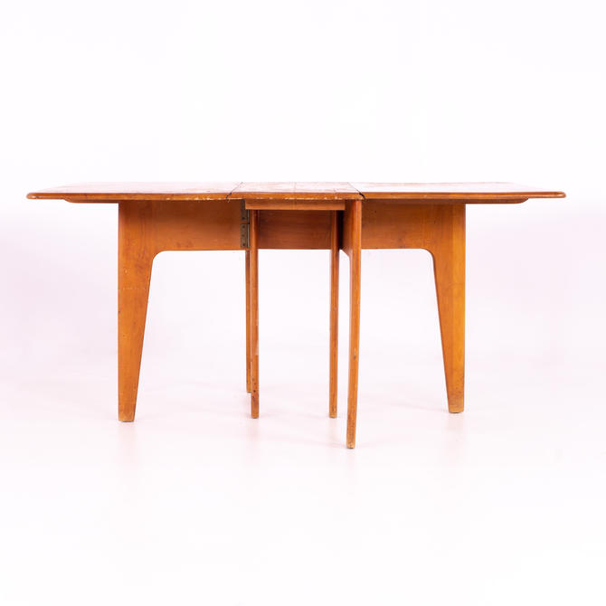 Heywood Wakefield Mid Century Gate Leg Drop Leaf Dining Table  - mcm by ModernHill