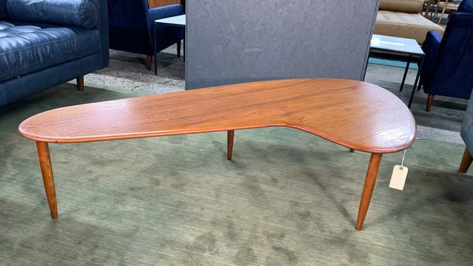 Danish teak boomerang coffee table