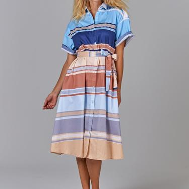 Safari Shirtdress | Neutral Paquin Stripe