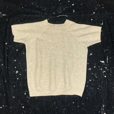 Size M Vintage 1970s Vintage Heather Gray Short Raglan Sleeve Sweatshirt by BriarVintage