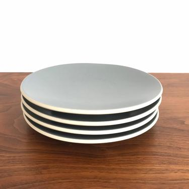 Set of 4 Sasaki Colorstone Salad Plates in Matte Gray by Vignelli Designs by TheThriftyScout