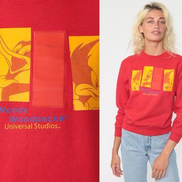 Woody Woodpecker Sweatshirt Universal Studios Shirt 80s Shirt Cartoon Graphic Sarcastic Joke Vintage 90s Extra Small xs by ShopExile