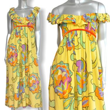 Vintage Floral Print Empire Waist Maxi Dress by Splendiferous New York Boho Formal Evening Dress by TheUnapologeticSoul