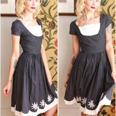 1960s Dress // Polka Dot St. Tropez Toni Todd Dress // vintage 60s dress by dethrosevintage