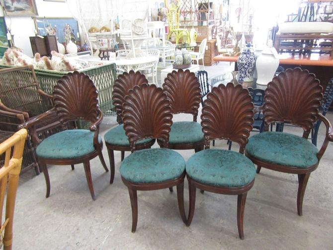 Set of 6 Italian Shell Chairs