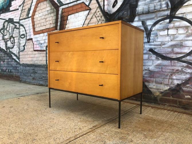 "Paul Mccobb vintage mid century modern 3 drawer dresser blonde 36"" by symmetryvintage"