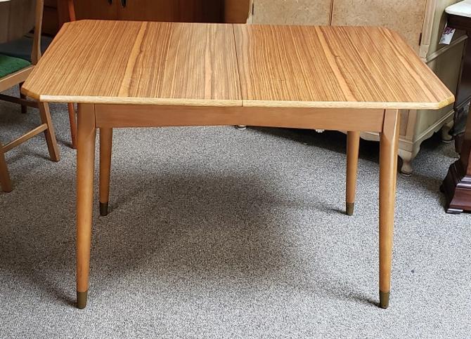 Item #R75 Classic 1950s Teak Kitchen Table w/ Leaf
