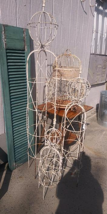 Tall Iron Garden Sculpture From Chartreuse Amp Co Of