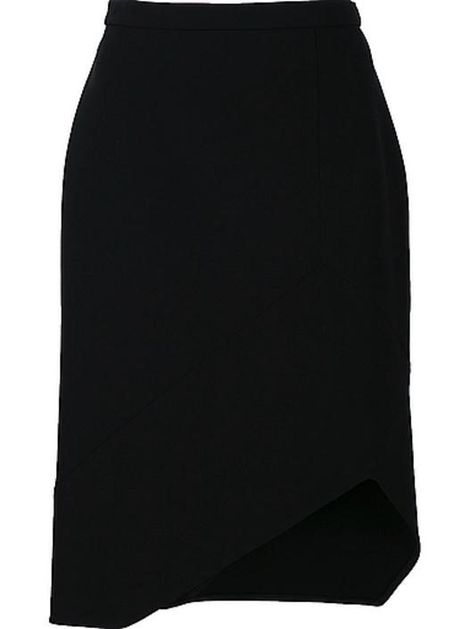 narciso rodriguez wool scuba asym skirt