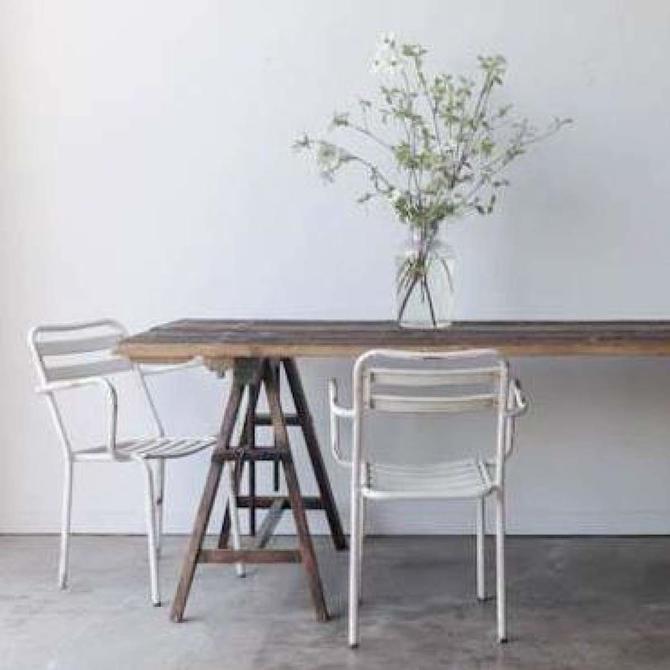 Vintage Pine Sawhorse Table