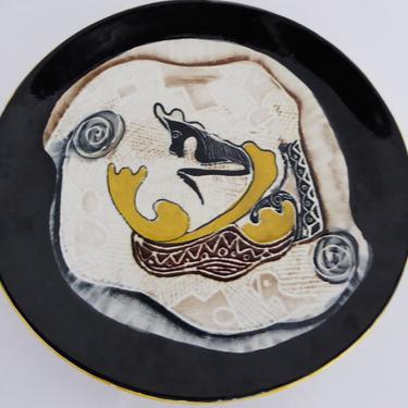 Modern Italian Large Ceramic Platter by Othello Bernardi Milano1950s