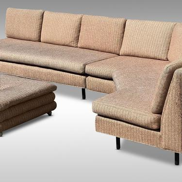 Large 2 Piece Modern Sectional Sofa, Circa 1950s - *Please ask for a shipping quote before you buy. by CoolCatVintagePA