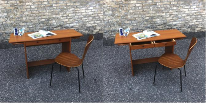 Danish Teak Writing Desk-console Table