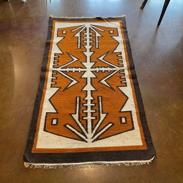 Vintage New Old Stock, Hand Crafted South American Tapestry, Neutral Colors, Symmetrical Design, Wall Hanging, Floor or Table Runner by PrimaForme