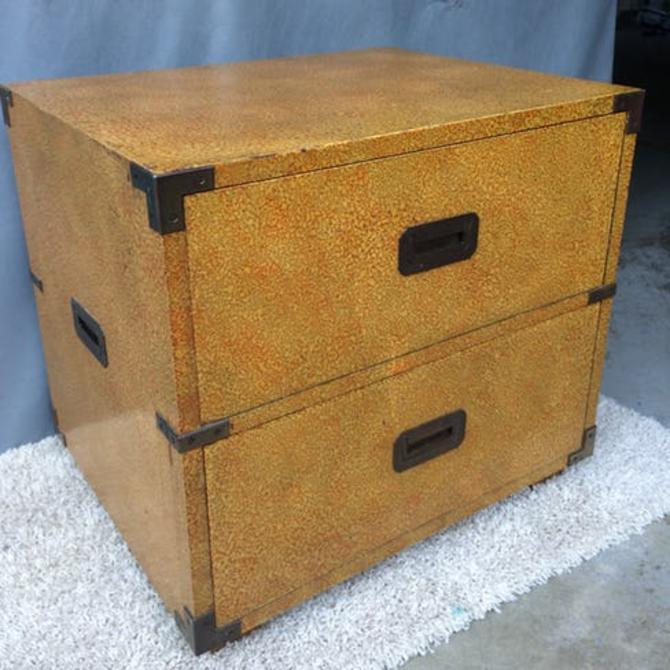 Vintage Henredon campaign style end table/chest